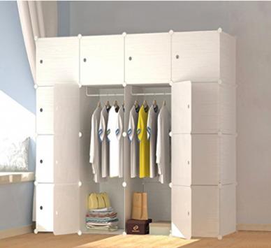 PREMAG Armoire Penderie Portable Cubes de Stockage